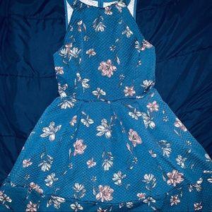 Blue & Pink Floral Dress